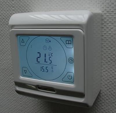 SM-PC®, Raumthermostat Thermostat programmierbar mit Touchscreen AUFPUTZ #ap695 von sm-pc auf Lampenhans.de
