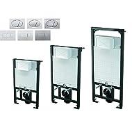 WC Vorwandelement inkl. Drückerplatte zur WANDMONTAGE Unterputzspülkasten, Bauhöhen 85 100 120 cm, Größe:100cm;Drückerplatte:eckig-M371 - chrom-glanz