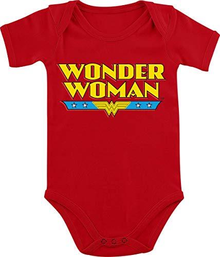 Wonder Woman Logo Strampler rot 68/74