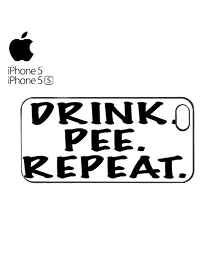 Drink Pee Repeat Beer Pub Drunk Mobile Cell Phone Case Cover iPhone 5c Black Blanc