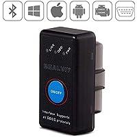 OBD2 Bluetooth 4.0, Bambud Dispositivo de Diagnóstico, Adaptador OBD2 con Interruptor, Como ELM327 con Switch, Admite Todos Protocolos OBD2, Funciona en iOS, Android, Symbian, Windows (Bluetooth)