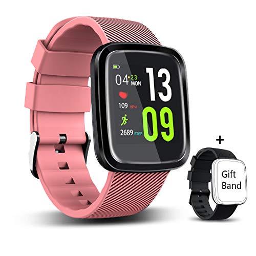 Imagen de eumi smartwatch reloj inteligente deportivo pulsera actividad inteligente ip67 duración batería 15 18 días 8.5mm espesor cronómetro podómetro monitor de calorías y sueño sms sns para ios y android