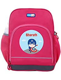 UniQBees Personalised School Bag With Name (Little Life Pre-School Backpack-Pink-Captain)