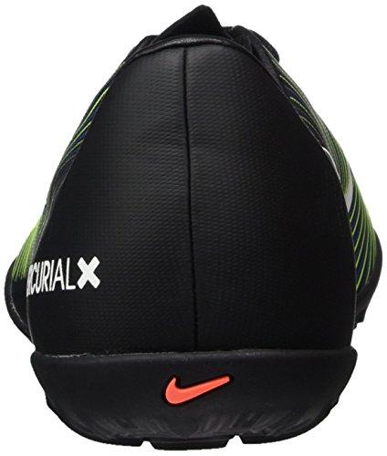 Nike 831949-013, Scarpe da Calcio Bambino Nero (Black/wht-elctrc Grn-prmnt Bl)