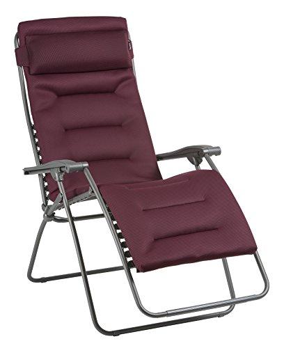 Lafuma Großer Relax-Liegestuhl, Klappbar und verstellbar, RSX Clip XL, Air Comfort, Bordeaux, LFM2041-8720 - Herz-zurück-stuhl