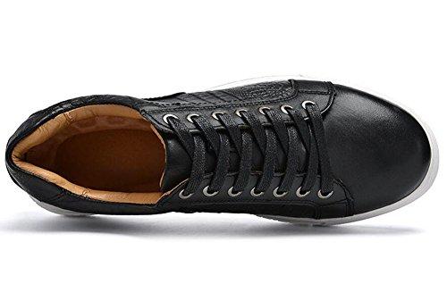 Scarpe Uomo Casual Scarpe Oxford Casual Scarpe Primo Livello Di Pelle Cintura Scarpe Uomo Donna Corea Trend Estate Scarpe Respirabili Black