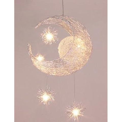 Productos ZSQ Alambre de aluminio lámpara colgante lámpara colgante estrella Luna , blanco cálido-220-240v #3662