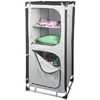aluminium connector system 4 compartments Camping cupboard 10T Cambox Quattro 48x59x140 cm top storage box