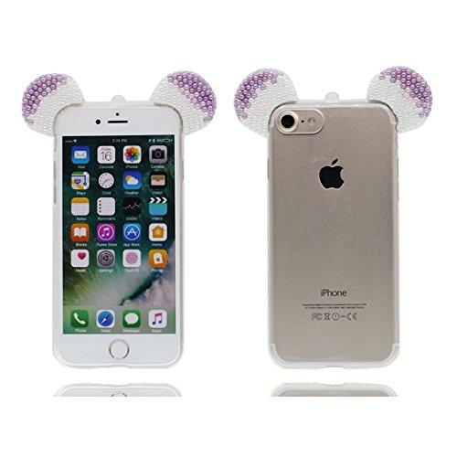 iPhone 6s Plus Custodia, iPhone 6 Plus Copertura Premium TPU Prezzo basso trasparente al silicone in iPhone 6S Plus case [Slim-Fit] [assorbimento di scossa]- conghiglia stelle # 3
