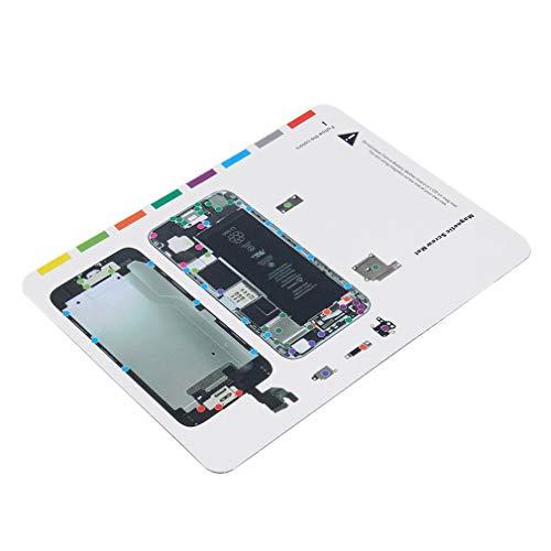 Yililay Magnetische Schraube Mat Reparaturtechniker Pad Manuelles Werkzeug für iPhone 6 4,7 Zoll, 3C Zubehör