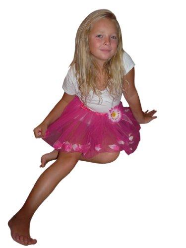 Rock mit innenliegenden Blüten – ideal für Prinzessinnen, Elfen und Feen und allerlei andere kreative Kostümideen. Für die Größen 98-116. Li10 (50er Jahre Kleinkind Jungen Kostüm)