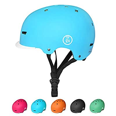 KORIMEFA Kids Skateboard Helmet Toddler Bike Protective Helmet for 3-13 Years Boys Girls Children Adjustable Helmet for BMX Cycling Roller Scooter Urban Skateboard Inline Skating by KORIMEFA
