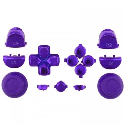 Sticks und Tasten Set/Mod Kit passend für PS4® Controller - Chrom lila/violett