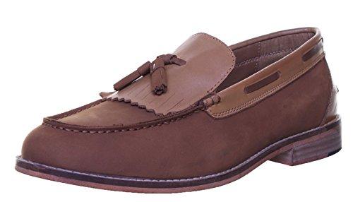 Justin Reece Melvin Matt Chaussures en cuir pour homme Beige - Camel RK1