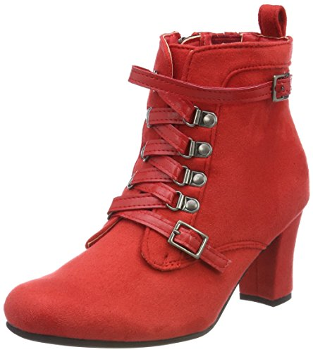 Rote Wildleder-stiefeletten (HIRSCHKOGEL by Andrea Conti Damen 3611506 Stiefel, Rot (Rot), 37 EU)