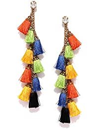 Blueberry Drop Earrings for Women (Multi-Colour)(E-4347)