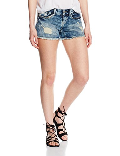 ONLY Damen Short 15115301, Blau (Medium Blue Denim), W25