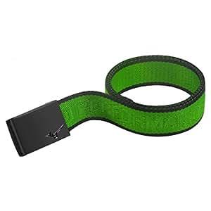 Mizuno Webbing Herren Gürtel, grün/schwarz