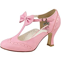 T-Strap Pumps, Damen, Pink (pink), Größe 39