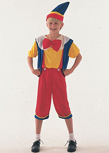 Bristol Novelty Bambini burattino Pinocchio Boy Costume Medium (6-8yrs)