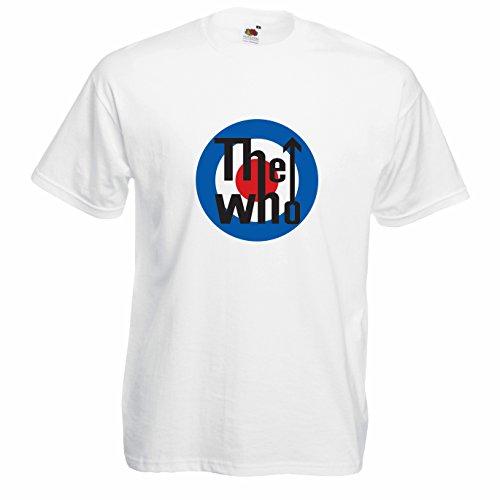T-shirt Uomo The Who - Maglietta rock band 100% cotone LaMAGLIERIA,M, Bianco