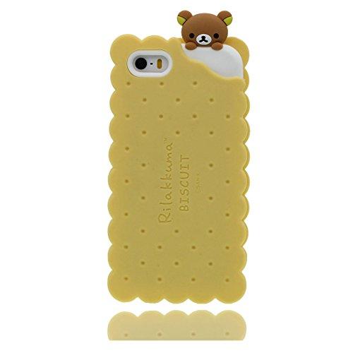 "Apple iPhone 5 (4.0"") Hülle, [Einhorn, unicorn flexible durable TPU] rückseitige Handy für iPhone 5G, SE, 5C, iPhone 5S Case, Anti-Beulen, Fingerabdrücke, Kratzer gelb"