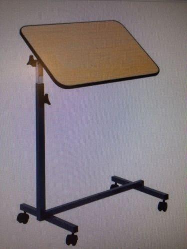 Betttisch Nova Beistelltisch mit brauner Tischplatte, fahrbar