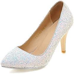 Mode Prinzessin Crystal-weiß Hochzeitsschuhe/ weibliche Brautkleid Brautschuhe-A Fußlänge=22.3CM(8.8Inch)
