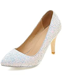 Moda princesa cristal-blanco zapatos de la boda/ mujer vestido de novia zapatos de novia/ zapatos de tacón alto de Dama de honor de lentejuelas