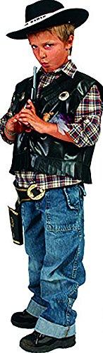 Kostüm in Leder-Optik für Jungen Boy, 128-134, 8-9 Jahre, Mehrfarbig ()