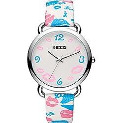 Damen Modeuhr / Armbanduhr Quartz / Leder Band Cool / Bequem Blau / Rot / Rosa / Lila / Rose Marke