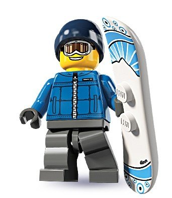 LEGO Figurines à Collectionner: Snowboarder Homme Mini-Figurine (Série 5)
