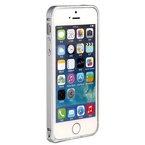 RE:CRON® Bumper Handycase Rahmen für Apple IPhone 5 und 5S - Aluminium Silber Silber - Metallic