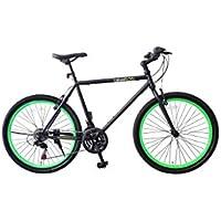 """Vélo de ville unisexe avec châssis en aluminium et jantes 26 """"fluo"""