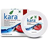 Kara Wipes Nail Polish Remover With Vitamin Removes Nail Polish, Strawberry (30 Pulls) x (Pack Of 4)