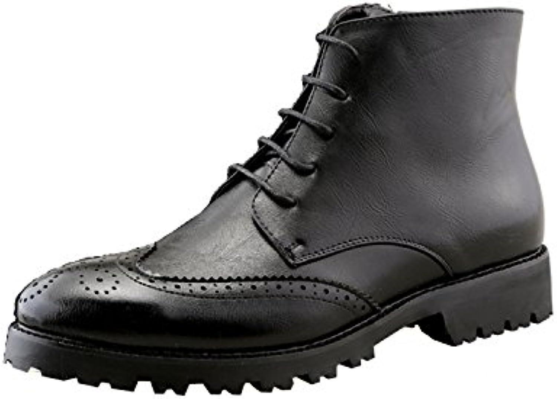 WAWEN Herren Leder Classic Oxford Schuhe Barock Casual Büro SchwarzWAWEN Herren Classic Oxford Schwarz