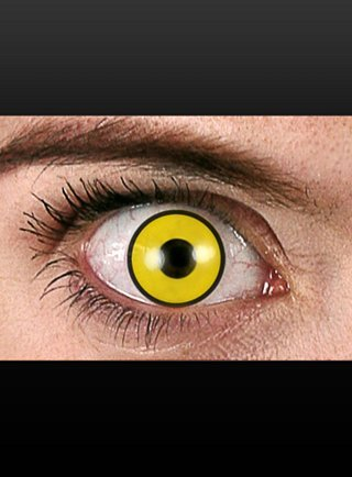 Crow Halloween Effekt-Kontaktlinsen für Party und Karneval weich ohne Dioptrien mit Anleitung
