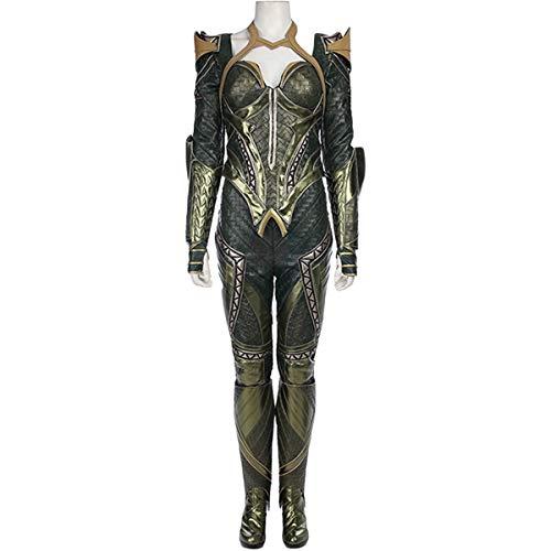 QWEASZER Aquaman Queen Mera Kampf Engen Body Halloween Cosplay Kostümfest Kostüm Anime Film Bühnenauftritt Onesies - Green Body Kostüm