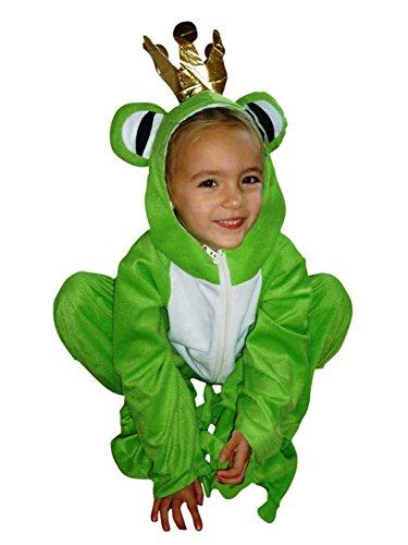 Frosch-König Kostüm, Sy12 Gr. 104-110, für Kinder, Froschkönig-Kostüme Frösche für Fasching Karneval, Klein-Kinder Karnevalskostüme, Kinder-Faschingskostüme, Geburtstags-Geschenk Weihnachts-Geschenk (Mädchen Frosch-kostüme Für)