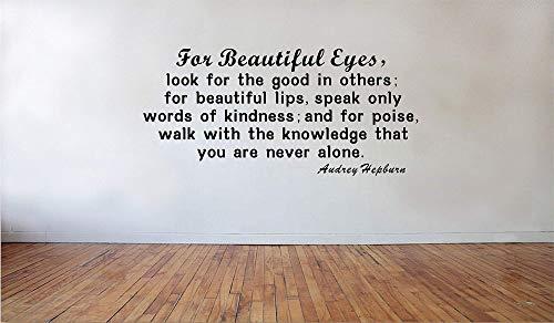 Ditooms Wandaufkleber für schöne Augen, Audrey Hepburn, Zitate für Mädchen, schöne Wandsticker