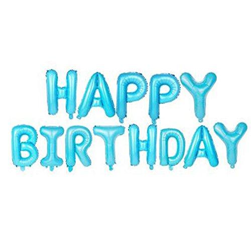 Mylar-band Blaue (Happy Birthday Folie Ballons–40,6cm Buchstaben Luftballons Mylar hängende Dekoration Luftballons Geburtstag Party blau)