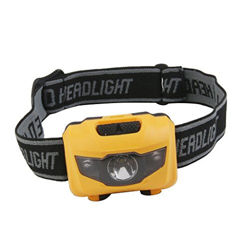 Generic PL-X3Y3-MBZQ KA Camping Hiking Mini 3 LED Head Light Torch Lamp (White/Red)