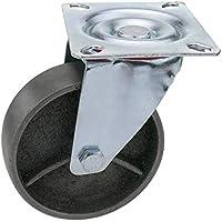 PrimeMatik - Rueda pivotante industrial de metal sin freno 100 mm