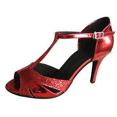 Silence @ Femme latine Sandales talons Chaussures de danse Red