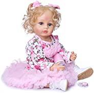 22 inch 55Cm Reborn Baby Doll Soft Full body Silicone Newborn real like Baby Doll Girl Toy Gift Dolls EE
