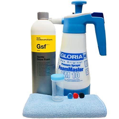 Gloria Foam Master FM10 +Koch Chemie Gentle Snow Foam inkl. Messbecher & DFT Microfasertuch