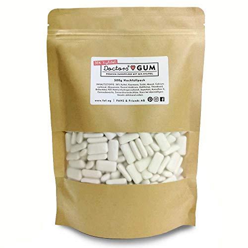 DOCTORS Gum 500g Nachfüllpack   Vorrat mit extra viel Xylit   Zahnpflege Kaugummi zuckerfrei   Vorteilspack für frischen Atem   vegan, ohne Zucker