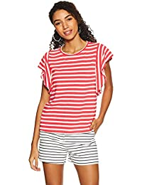 United Colors of Benetton Women's Regular Fit Top (18P3CT2E1460I_PARADIES Pink+Snow White_M)