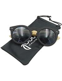 Occhiali da sole neri Fool Venezia 01 in plastica gommata antiurto