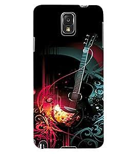 ColourCraft Guitar Design Back Case Cover for SAMSUNG GALAXY NOTE 3